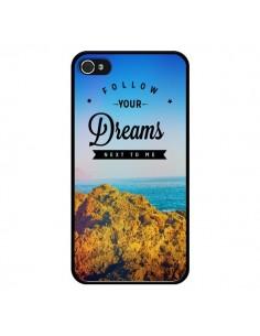 Coque Follow your dreams Suis tes rêves pour iPhone 4 et 4S - Eleaxart
