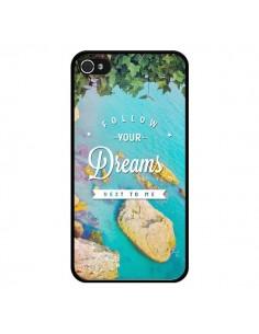 Coque Follow your dreams Suis tes rêves Islands pour iPhone 4 et 4S - Eleaxart