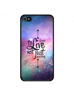 Coque I want to live Je veux vivre pour iPhone 4 et 4S - Eleaxart