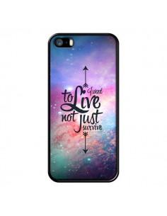 Coque I want to live Je veux vivre pour iPhone 5 et 5S - Eleaxart