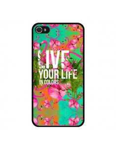 Coque Live your Life pour iPhone 4 et 4S - Eleaxart