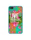 Coque Live your Life pour iPhone 4 et 4S - Eleaxart