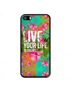Coque Live your Life pour iPhone 5 et 5S - Eleaxart