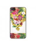 Coque Parrot Floral Perroquet Fleurs pour iPhone 4 et 4S - Eleaxart