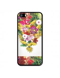 Coque Parrot Floral Perroquet Fleurs pour iPhone 5 et 5S - Eleaxart