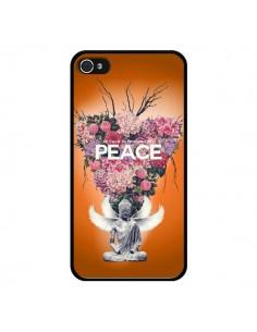 Coque Peace Fleurs Buddha pour iPhone 4 et 4S - Eleaxart