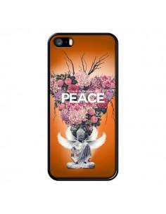 Coque Peace Fleurs Buddha pour iPhone 5 et 5S - Eleaxart