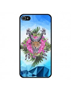 Coque Giraffes Lion Tigre Jungle pour iPhone 4 et 4S - Eleaxart