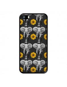 Coque Elephant Tournesol pour iPhone 5 et 5S - Eleaxart