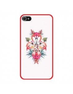 Coque Tropicales Flamingos Tropical Flamant Rose Summer Ete pour iPhone 4 et 4S - Eleaxart