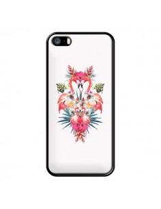 Coque Tropicales Flamingos Tropical Flamant Rose Summer Ete pour iPhone 5 et 5S - Eleaxart