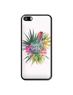 Coque Have a great summer Ete Perroquet Parrot pour iPhone 5 et 5S - Eleaxart