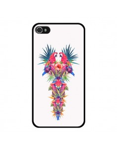 Coque Parrot Kingdom Royaume Perroquet pour iPhone 4 et 4S - Eleaxart