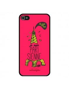 Coque Je suis Parisienne La Tour Eiffel Rose pour iPhone 4 et 4S - Leellouebrigitte