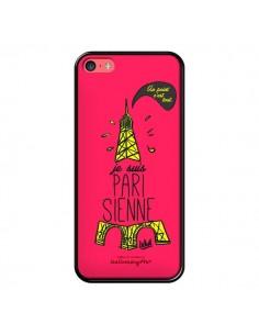 Coque Je suis Parisienne La Tour Eiffel Rose pour iPhone 5C - Leellouebrigitte