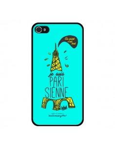 Coque Je suis Parisienne La Tour Eiffel Bleu pour iPhone 4 et 4S - Leellouebrigitte