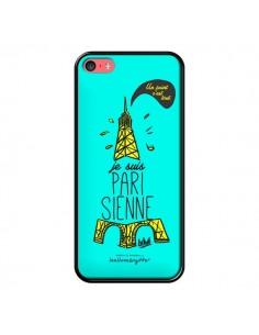 Coque Je suis Parisienne La Tour Eiffel Bleu pour iPhone 5C - Leellouebrigitte