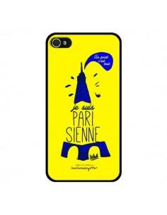Coque Je suis Parisienne La Tour Eiffel Jaune pour iPhone 4 et 4S - Leellouebrigitte