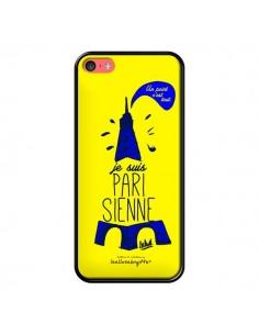 Coque Je suis Parisienne La Tour Eiffel Jaune pour iPhone 5C - Leellouebrigitte