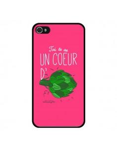 Coque Toi tu as un coeur d'artichaut pour iPhone 4 et 4S - Leellouebrigitte