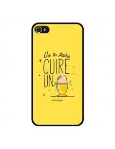 Coque Va te faire cuir un oeuf jaune pour iPhone 4 et 4S - Leellouebrigitte