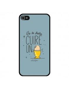 Coque Va te faire cuir un oeuf gris pour iPhone 4 et 4S - Leellouebrigitte