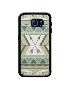 Coque Aztec Pattern Arrows Fleche Azteque Tribal pour Samsung Galaxy S6 - LouJah