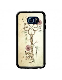 Coque Key Lucky Clef Flower pour Samsung Galaxy S6 - LouJah