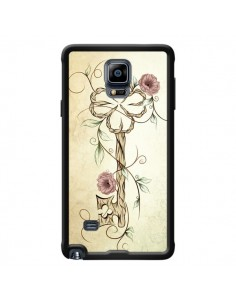 Coque Key Lucky Clef Flower pour Samsung Galaxy Note 4 - LouJah