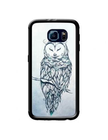 Coque Snow Owl Chouette Hibou Neige pour Samsung Galaxy S6 - LouJah