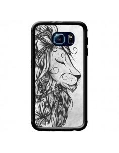 Coque Poetic Lion Noir Blanc pour Samsung Galaxy S6 - LouJah