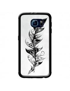 Coque Feather Plume Noir et Blanc pour Samsung Galaxy S6 - LouJah