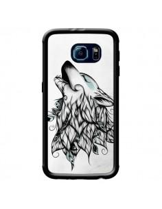 Coque The Wolf Loup Noir pour Samsung Galaxy S6 - LouJah