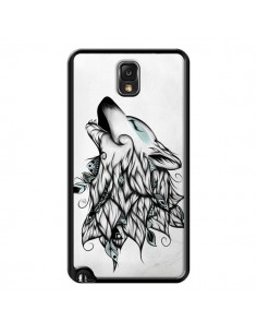 Coque The Wolf Loup Noir pour Samsung Galaxy Note III - LouJah