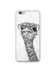 Coque Ostrich Autruche Noir et Blanc pour iPhone 6 Plus - LouJah