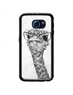 Coque Ostrich Autruche Noir et Blanc pour Samsung Galaxy S6 - LouJah