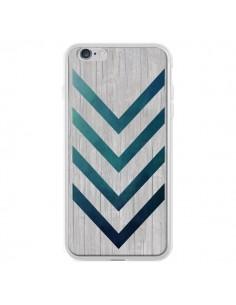 Coque Blue Arrow Wood Fleche Bois pour iPhone 6 Plus - LouJah