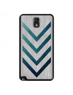 Coque Blue Arrow Wood Fleche Bois pour Samsung Galaxy Note III - LouJah