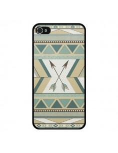 Coque Aztec Pattern Arrows Fleche Azteque Tribal pour iPhone 4 et 4S - LouJah