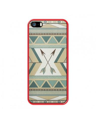 Coque Aztec Pattern Arrows Fleche Azteque Tribal pour iPhone 5 et 5S - LouJah