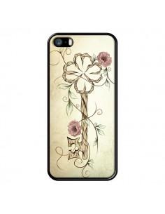Coque Key Lucky Clef Flower pour iPhone 5 et 5S - LouJah