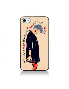 Coque Act Like A Lady pour iPhone 4 et 4S - AlekSia