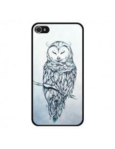 Coque Snow Owl Chouette Hibou Neige pour iPhone 4 et 4S - LouJah