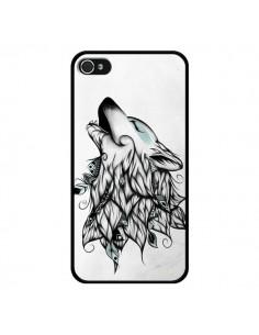 Coque The Wolf Loup Noir pour iPhone 4 et 4S - LouJah
