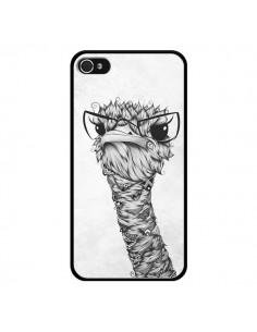 Coque Ostrich Autruche Noir et Blanc pour iPhone 4 et 4S - LouJah