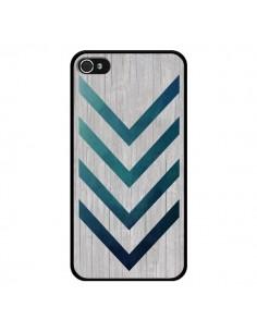 Coque Blue Arrow Wood Fleche Bois pour iPhone 4 et 4S - LouJah