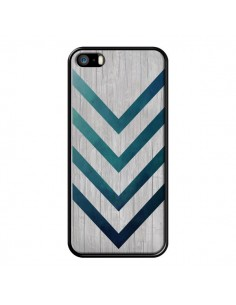Coque Blue Arrow Wood Fleche Bois pour iPhone 5 et 5S - LouJah