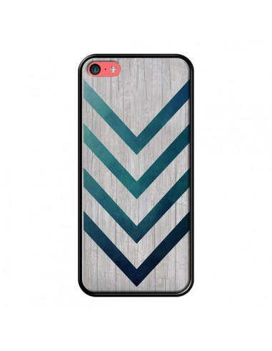 Coque Blue Arrow Wood Fleche Bois pour iPhone 5C - LouJah