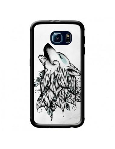 Coque The Wolf Loup Noir pour Samsung Galaxy S6 Edge - LouJah