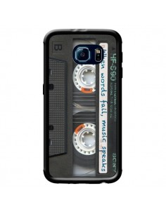 Coque Cassette Words K7 pour Samsung Galaxy S6 Edge - Maximilian San